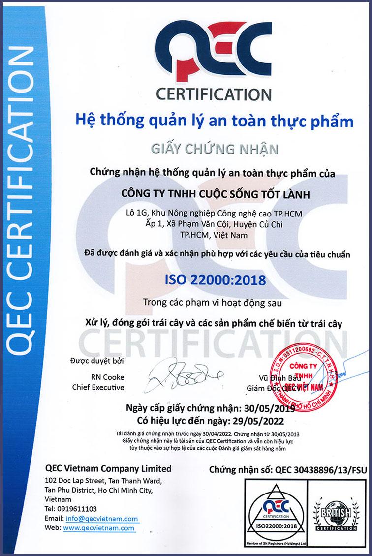 goodlifejp.com, ISO 22000: 2019-2022